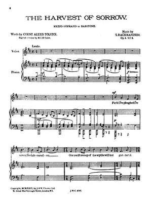 Sergei Rachmaninov: The Harvest Of Sorrow Op.4/5