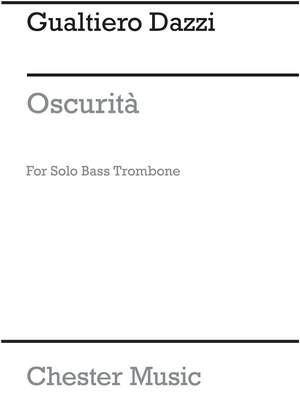 Gualtiero Dazzi: Oscurita Solo Bass Trombone