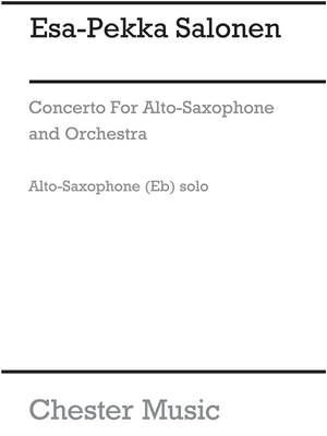 Esa-Pekka Salonen: Concerto For Alto Saxophone And Orchestra