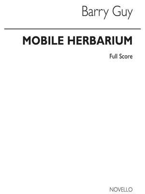Barry Guy: Mobile Herbarium For Saxophone Quartet Full Score