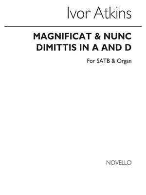 Ivor Atkins: I Magnificat In A And Nunc Dimittis In D