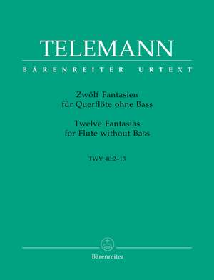 Telemann, G: Fantasias (12) (TWV 40: 1-12) (Urtext)