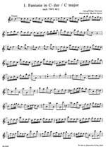 Telemann, G: Fantasias (12) based on the Fantasias for Flute (TWV 40: 2-13) Product Image