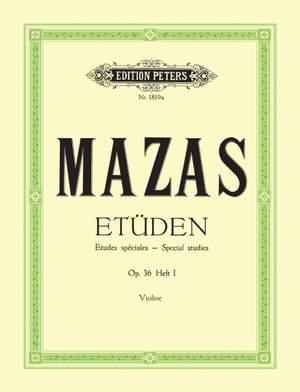 Mazas, J: Studies Op.36 Vol.1: 'Etudes spéciales'