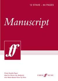 Faber Music Manuscript Paper