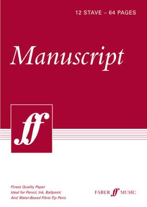 Faber Music Manuscript Paper Product Image