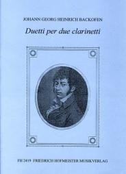 Johann Georg Heinrich Backofen: Duetti per due Clarinetti