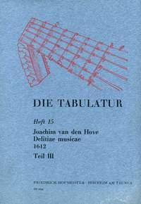 Joachim van den Hove: Die Tabulatur, Heft 15