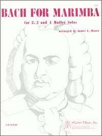 Johann Sebastian Bach: Bach For Marimba