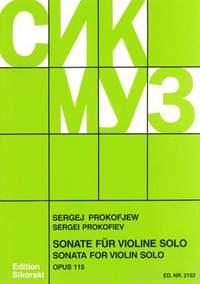 Sergei Prokofiev: Violin Sonata Op.115