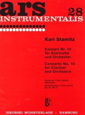 Carl Stamitz: Konzert Nr. 10 für Klarinette und Orchester