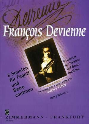 François Devienne: 6 Sonaten Heft 1