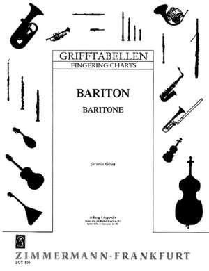 Fingering Table for Baritone in B flat