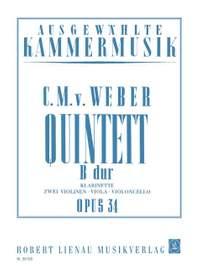 Carl Maria von Weber: Quintett B-Dur op. 34