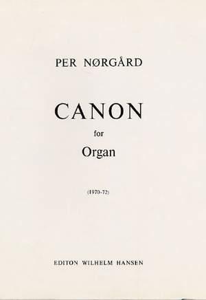 Per Nørgård: Canon For Organ