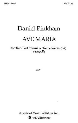 Daniel Pinkham: Ave Maria SA