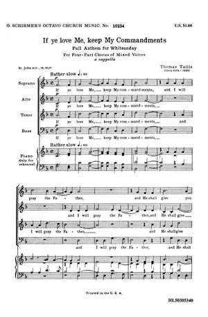 Thomas Tallis: If Ye Love Me Keep My Commandments