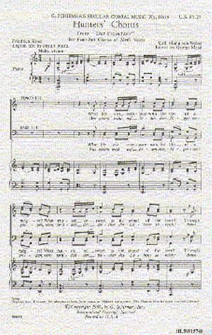 Carl Maria von Weber: Hunters' Chorus