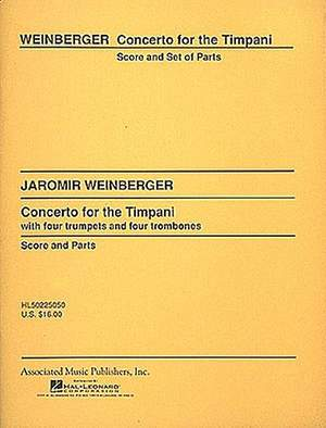 Jaromir Weinberger: Concerto for the Timpani