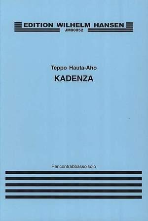Teppo Hauta-Aho: Kadenza For Double Bass Product Image