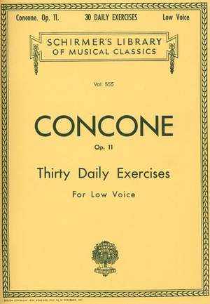 Joseph Concone: 30 Daily Exercises, Op. 11