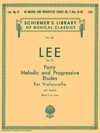 S Lee: 40 Melodic and Progressive Etudes, Op. 31