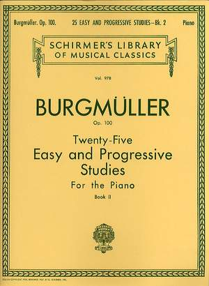 Friedrich Burgmüller: 25 Easy and Progressive Studies for the Piano