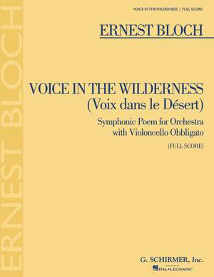 Ernest Bloch: Voice In The Wilderness