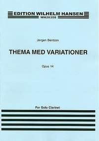 Jørgen Bentzon: Theme and Variations For Solo Clarinet Op. 14