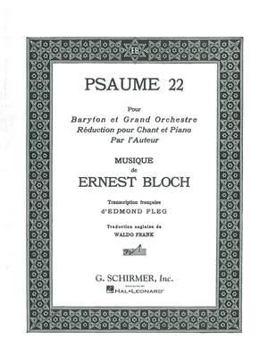 Ernest Bloch: Psaume 22