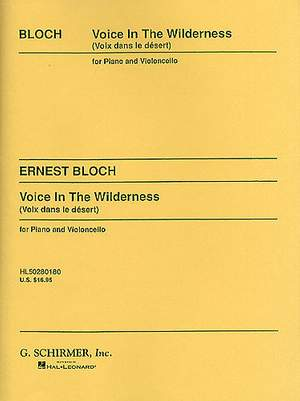Ernest Bloch: Voice In The Wilderness