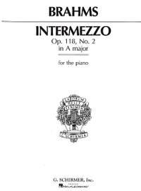 Johannes Brahms: Intermezzo In A Op.118 No.2