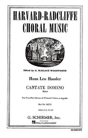 Hans Leo Hassler: Cantate Domino Motet