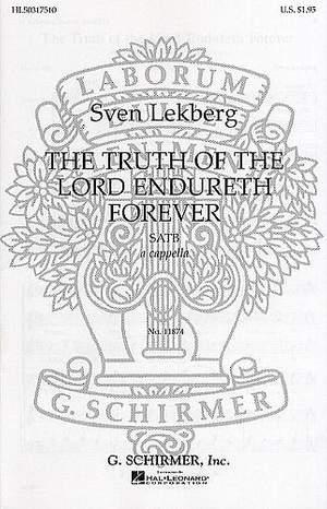 S Lekberg: Truth Of The Lord Endureth Forever