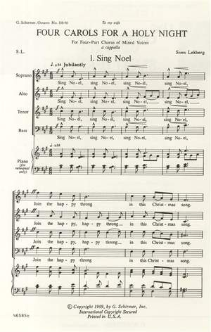 S Lekberg: Four Carols For A Holy Night
