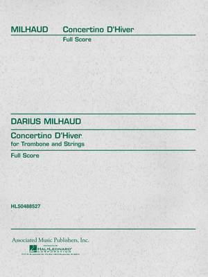Darius Milhaud: Concertino D'Hiver Op.327
