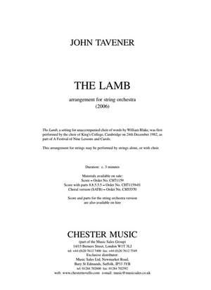 John Tavener: The Lamb (String Orchestra Version) Score