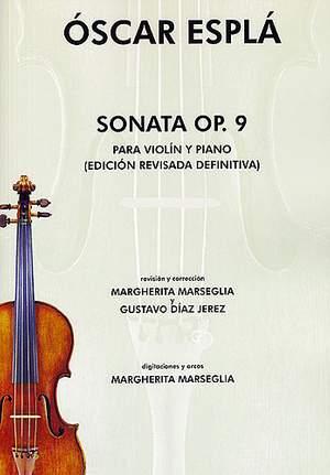 Oscar Espla: Sonata Op.9 Para Violin Y Piano