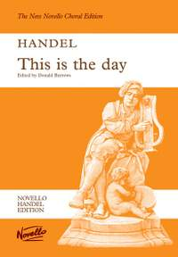 Georg Friedrich Händel: This Is The Day (Ed. Burrows) Vocal Score