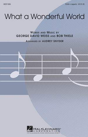 Bob Thiele_George David Weiss: What A Wonderful World (SSAA)
