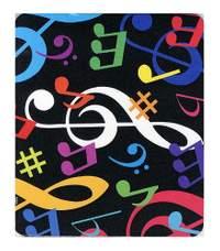 Mouse Mat: Multicolour Musical Notes