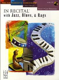 In Recital With Jazz Blues Rags Book 3