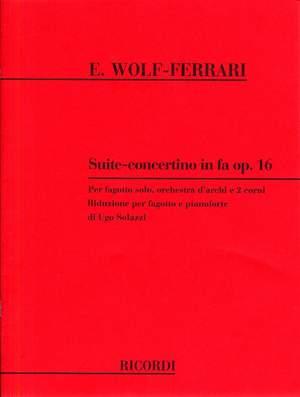 Ermanno Wolf-Ferrari: Suite - Concertino in Fa Opus 16