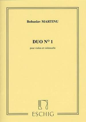 Bohuslav Martinu: Duo No.1