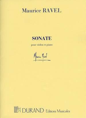 Maurice Ravel: Sonate Pour Violon Et Piano