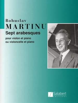 Bohuslav Martinu: Sept Arabesques Pour Violon Et Piano