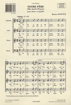 Maurice Duruflé: Notre Père Op. 14 (The Lord's Prayer)
