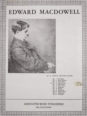 Edward MacDowell: Improvisation From 12 Virtuoso Studies Op.46 No.4