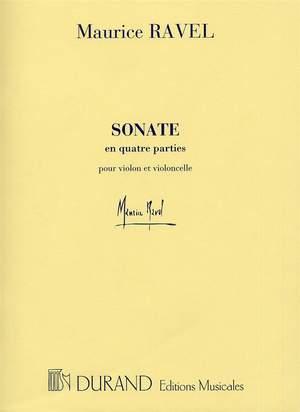 Maurice Ravel: Sonate En Quatre Parties