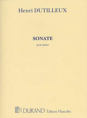 Henri Dutilleux: Sonate